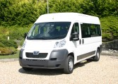 White Peugeot Boxer L3 17 Seat Minibus from Red Kite 01202 827678