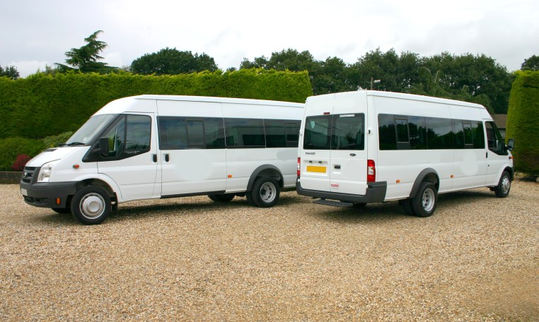 2 x Transit minibuses in White Why not lease one of our quality used minibuses for 24 - 36 Months call and ask for further information 01202 827678