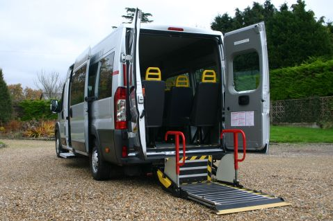 Peugeot Boxer Accessible Minibus with wheelchair tail lift fitted fully serviced tel 01202 827678 12 months warranty