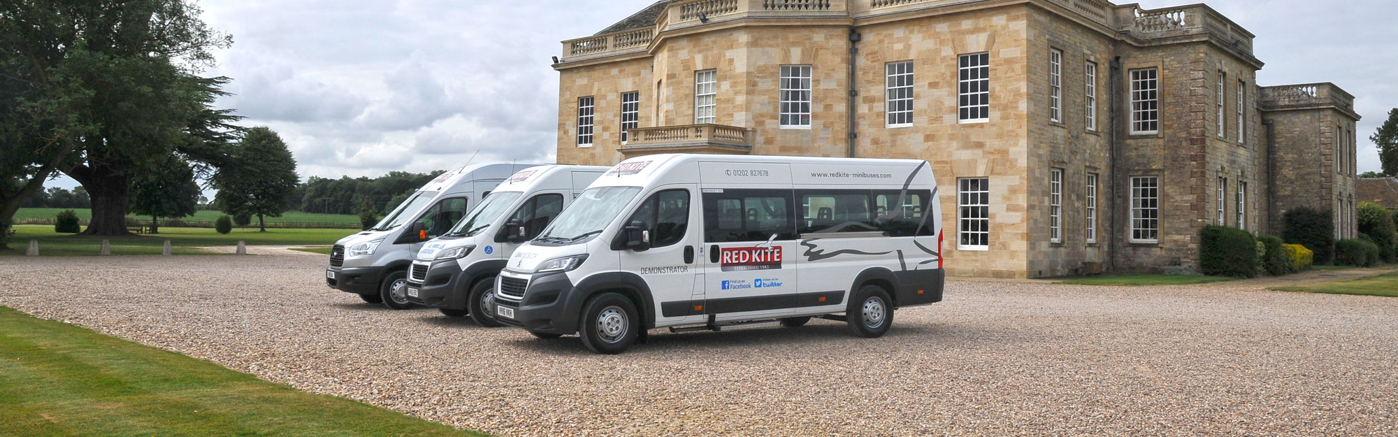 Red Kite Peugeot Ford and Accessible Demonstrator Minibuses