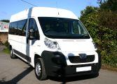 White L3 15 seat Peugeot Boxer Minibus