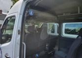 COVID minibus driver protection screen