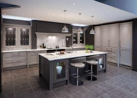 Balham 90 – Dark and Light Grey – Red Kite Kitchens