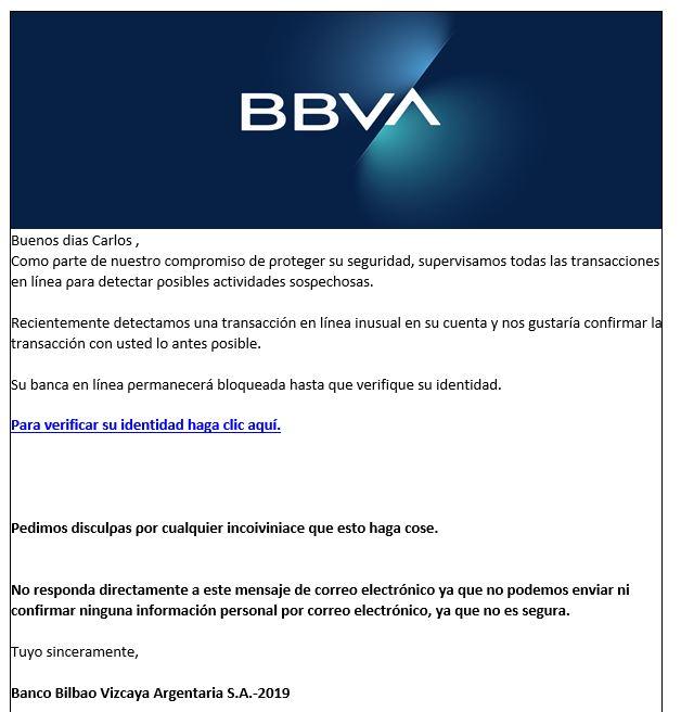 phising bbva