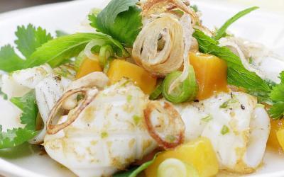 Grilled Calamari with Mango