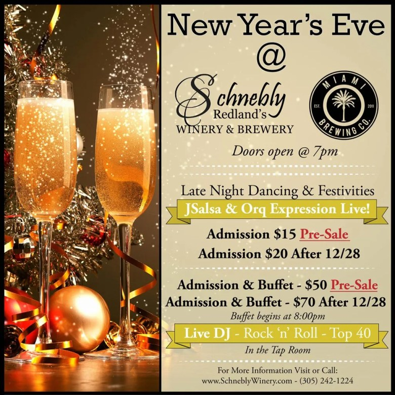 Schnebly Redland's Winery and Brewery New Years Celebration 2016