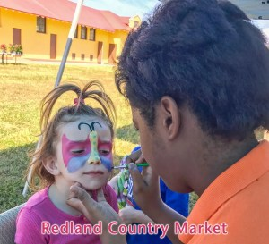 Facepainting at Redland Country Market