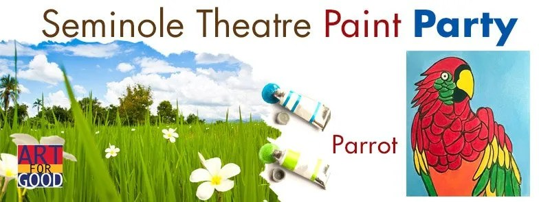 Art For Good Paint Party at the Seminole Theatre - Parrot