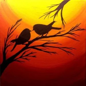 Paint party - Love Birds