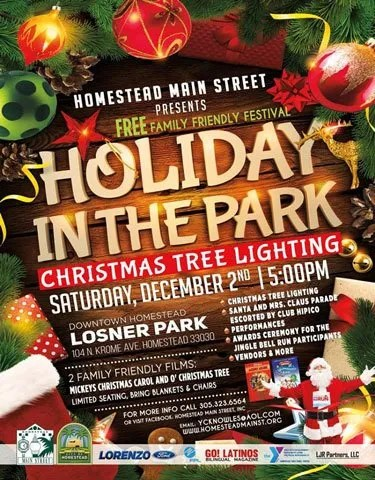 Holiday In THe Park Tree Lighting at Losner Park