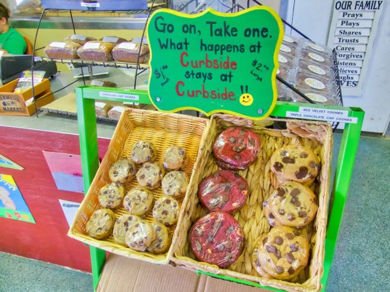 fresh baked cookies at Curbside Market