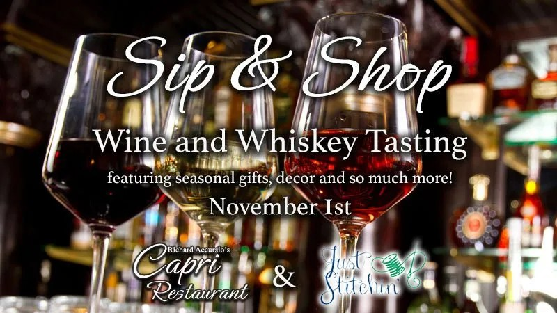 Sip & Shop -- Wine and Whiskey Tasting