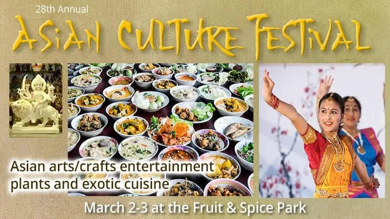 Asian Culture Festival at The Fruit and Spice Park