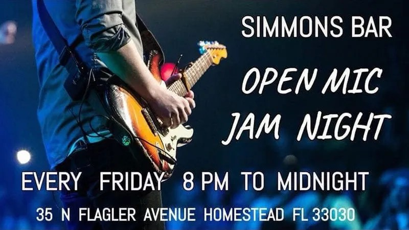 Open Mic Jam Night Fridays at Simmons Bar