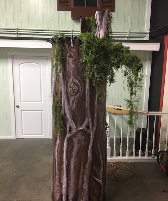 Finished Trees with Moss