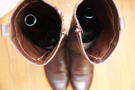 Wine Bottle Boot Shapers | redleafstyle.com