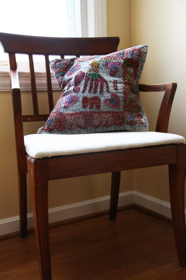 Wooden Chair Makeover: After | redleafstyle.com