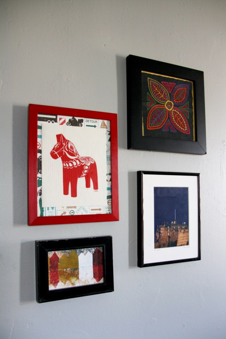 Art hanging on the wall.