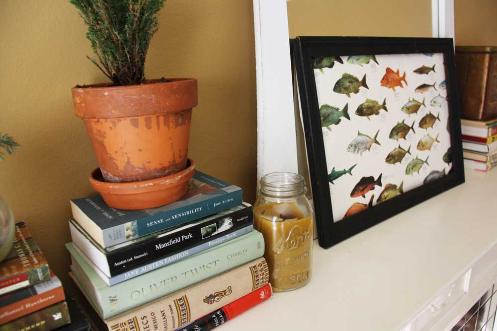 Books and fish picture   redleafstyle.com