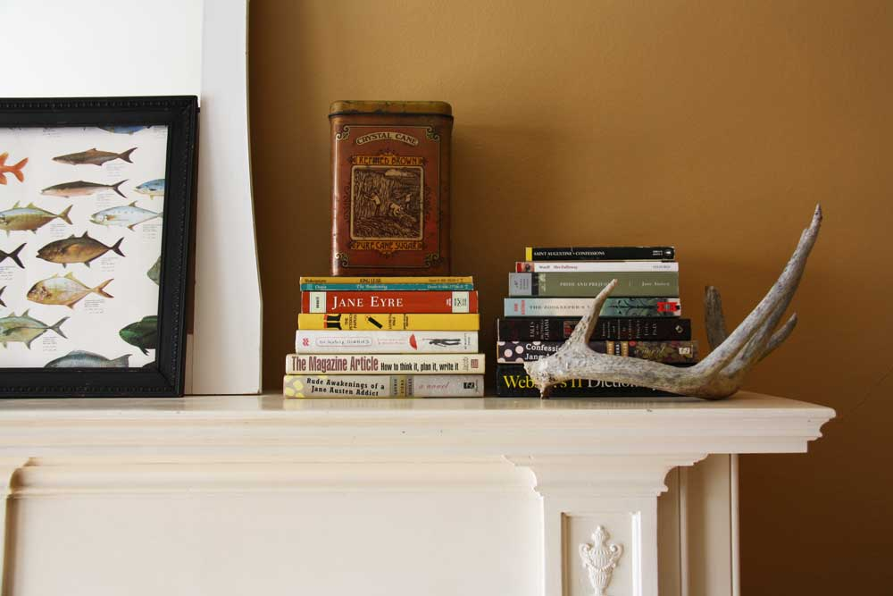 Books and antlers | redleafstyle.com