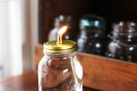Mason Jar Oil Lamp - Red Leaf StyleRed Leaf Style