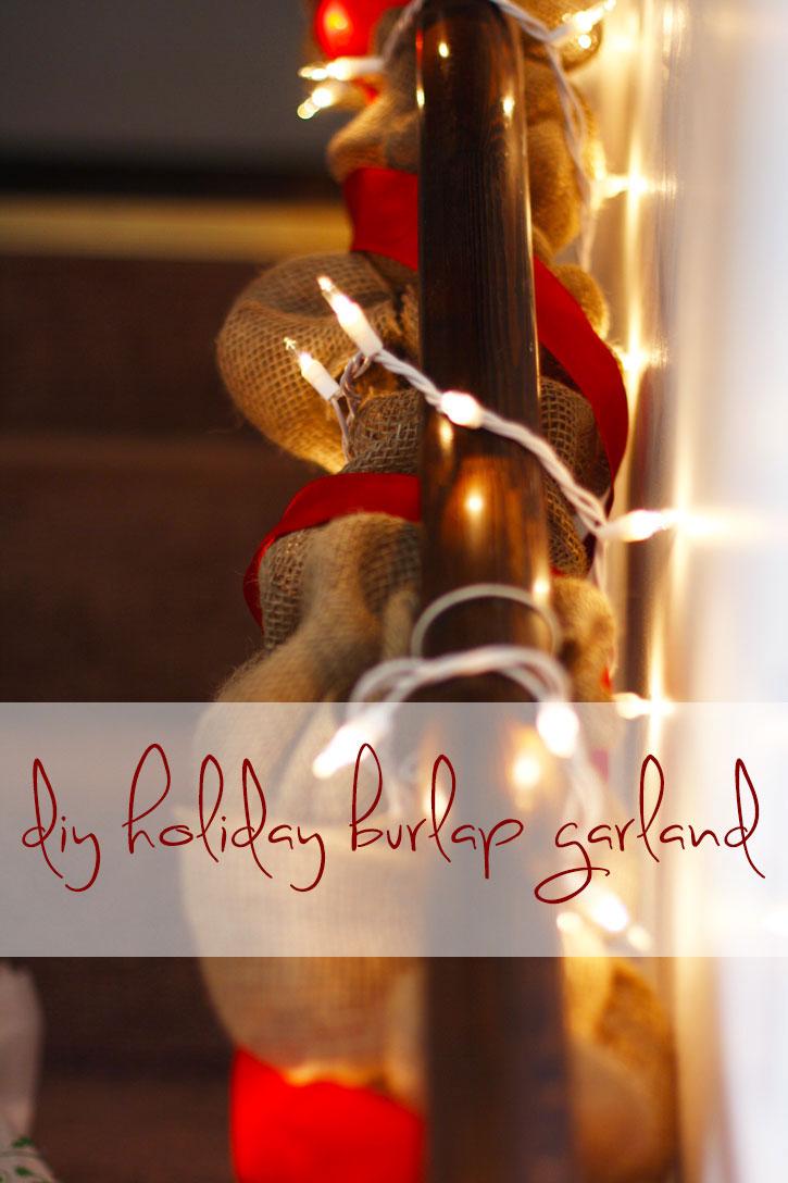 DIY Holiday Burlap Garland | redleafstyle.com