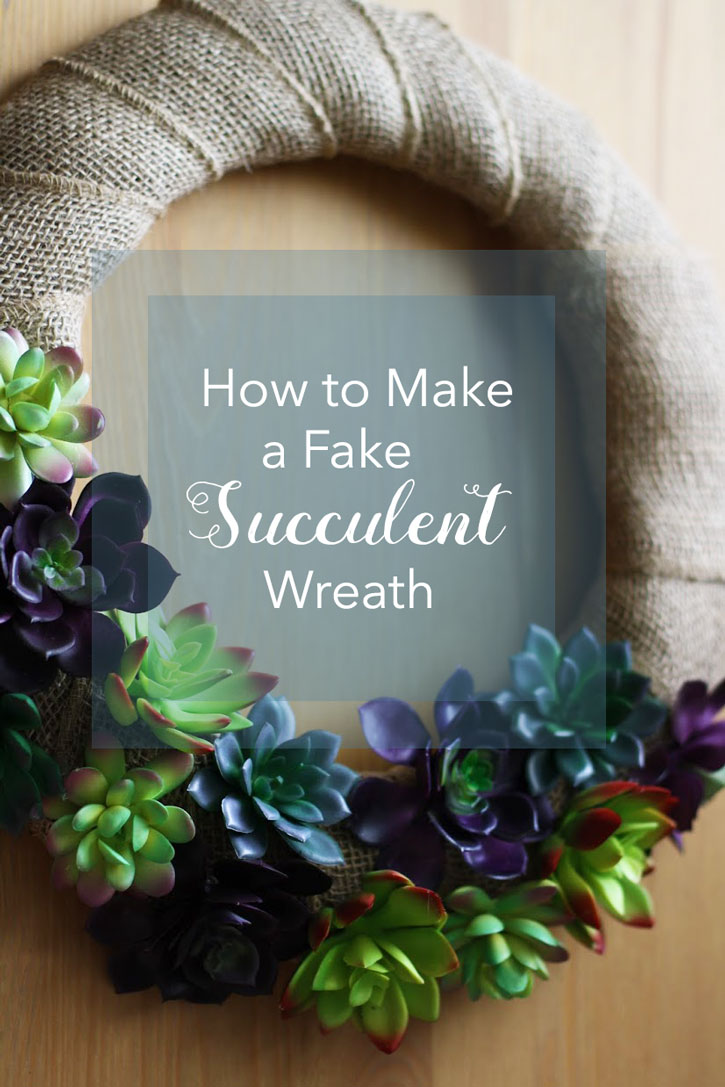 How to Make a Faux Succulent Wreath  Red Leaf Style