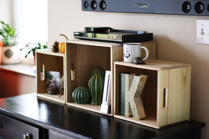 How To Make An Easy And Stylish Diy Tv Console With Wood Boxes