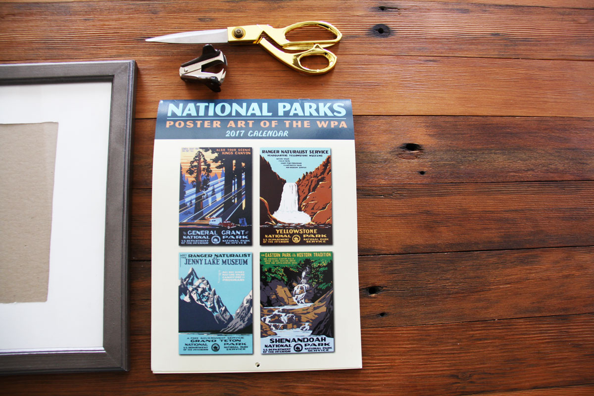 How to Reuse Old Calendars to Make Cute Framed Art on the Cheap