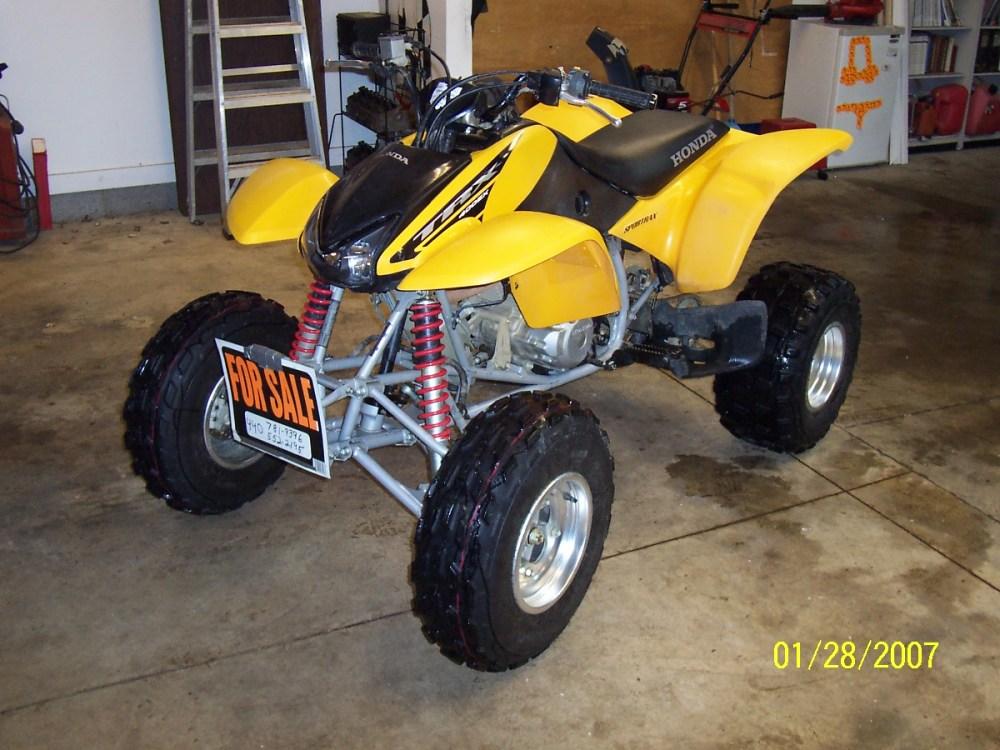 medium resolution of yellow honda car 4 wheeler honda trx 400 ex sport saturn ion redline