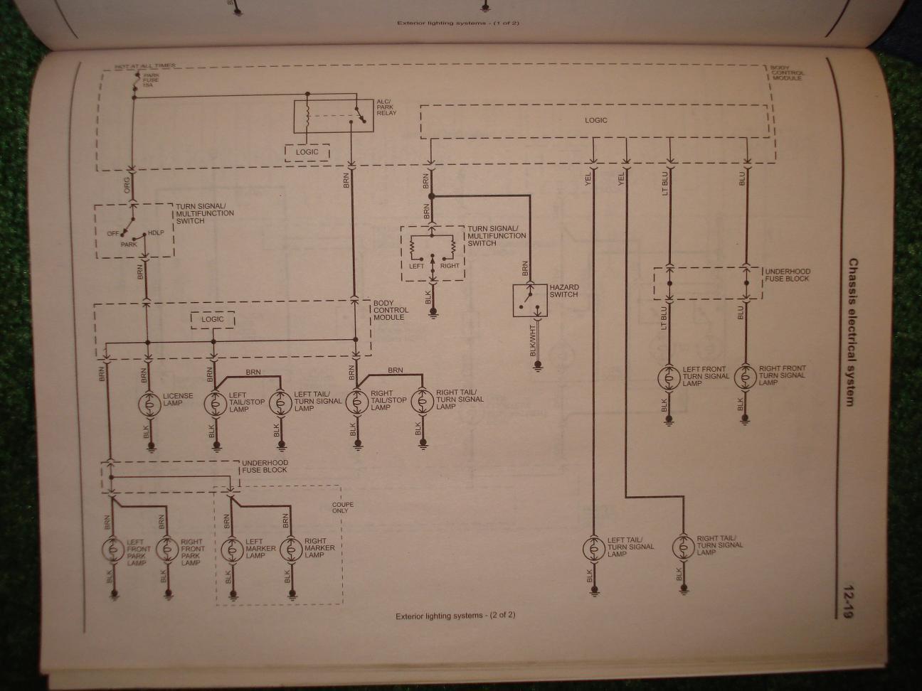 signal light flasher wiring diagram dpdt relay 4way hazard switch saturn ion redline