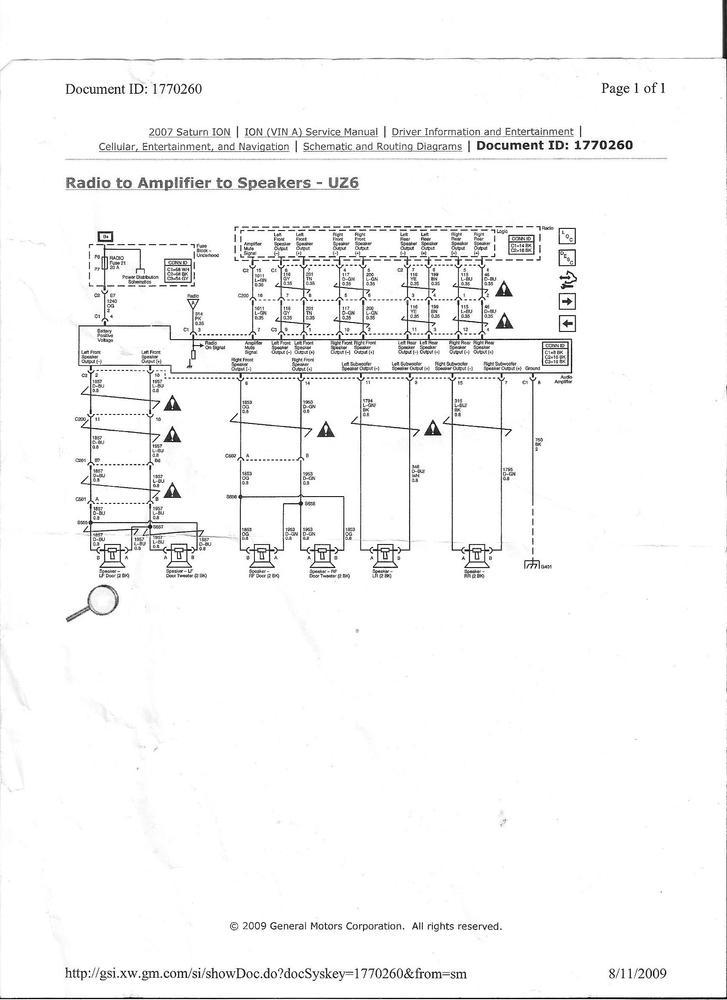 speaker wiring harness diagram