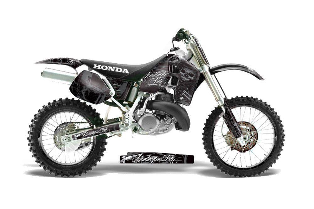 Honda CR500 Dirt Bike Graphics: Skulls and Hammers