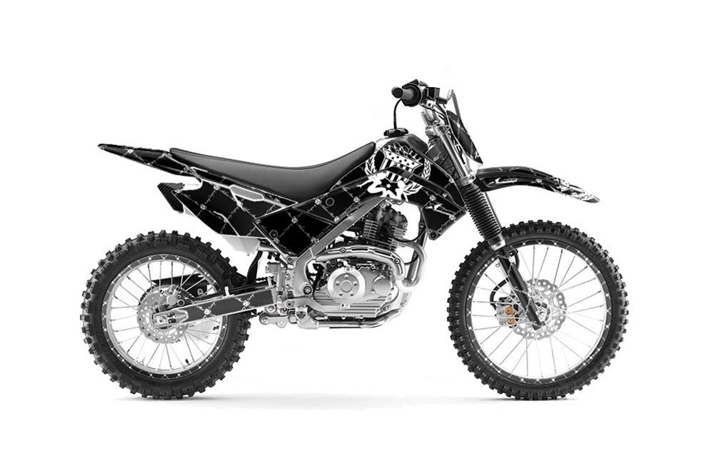 Kawasaki KLX140 Dirt Bike Graphics: Silver Star Reloaded