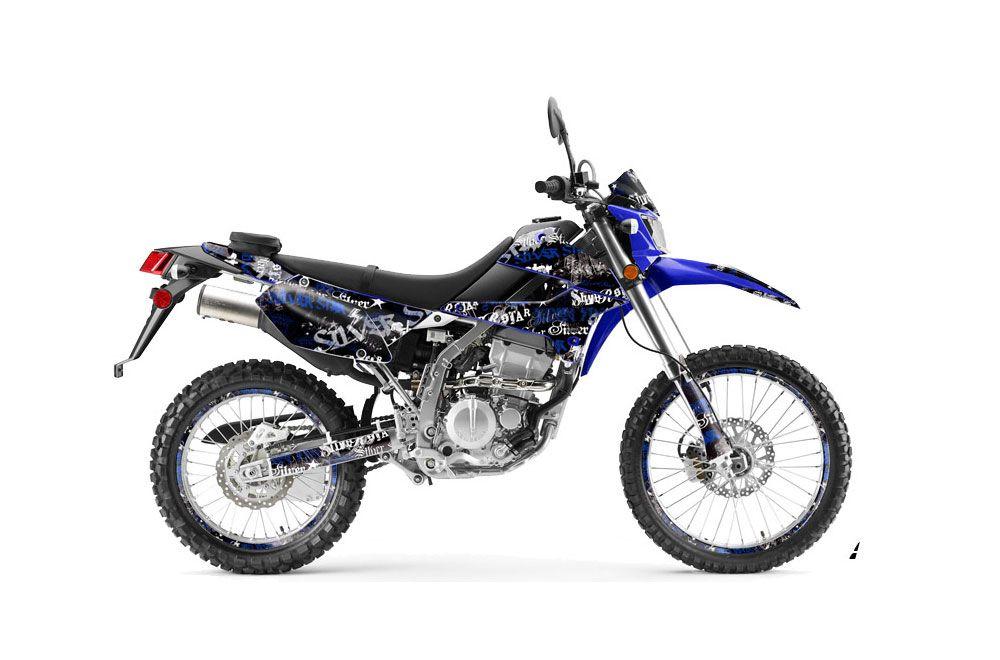 Kawasaki KLX250 Dirt Bike Graphics: Silver Star Silver
