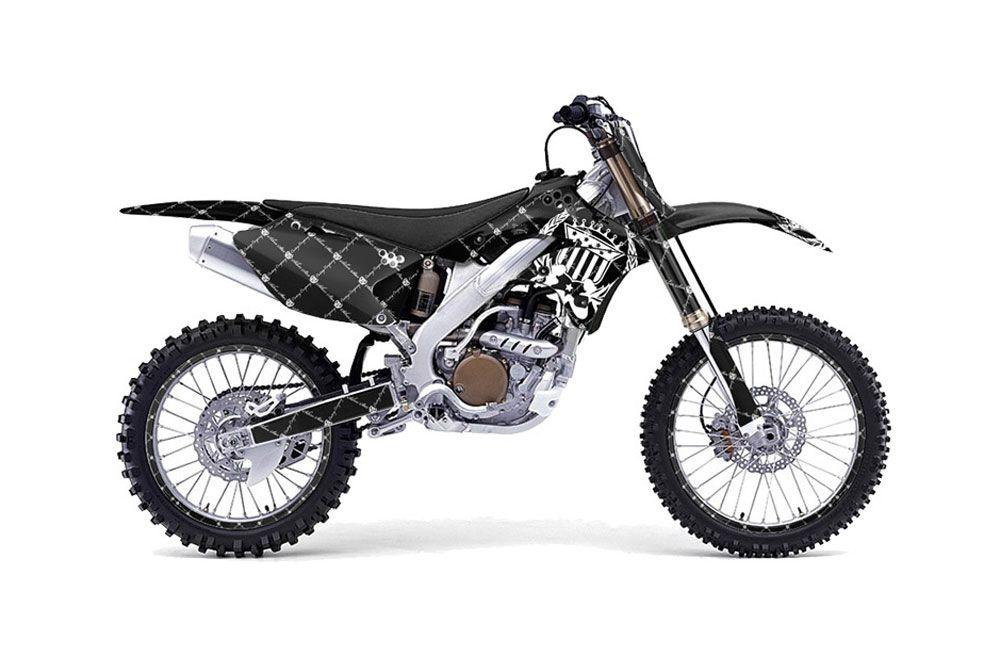 Kawasaki KX250F Dirt Bike Graphics: Silver Star Reloaded