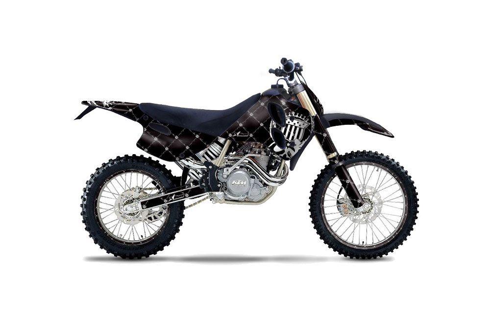 KTM C0 EXC 4 Stroke Dirt Bike Graphics: Silver Star