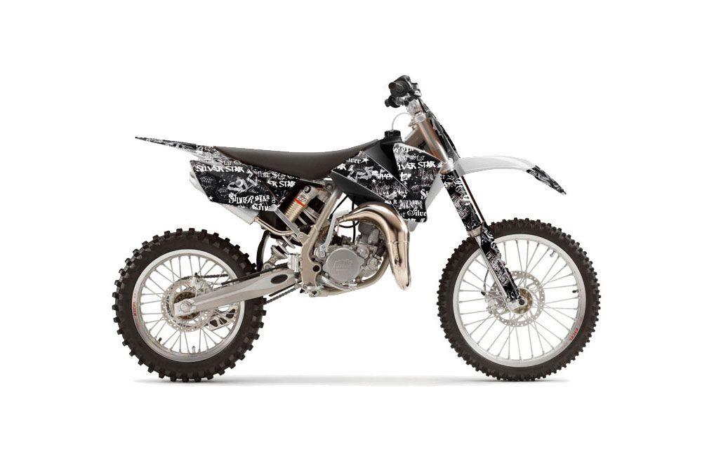 KTM SX 105 Dirt Bike Graphics: Silver Star Silver Haze