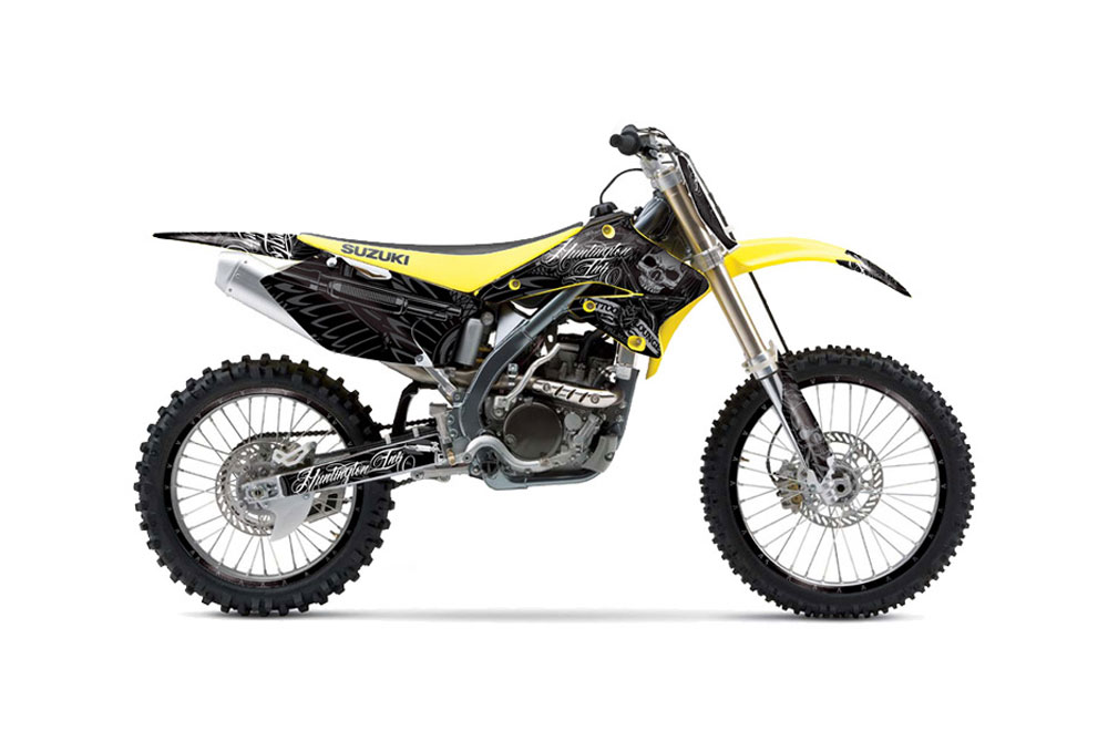 Suzuki RMZ 250 Dirt Bike Graphics: Skulls and Hammers