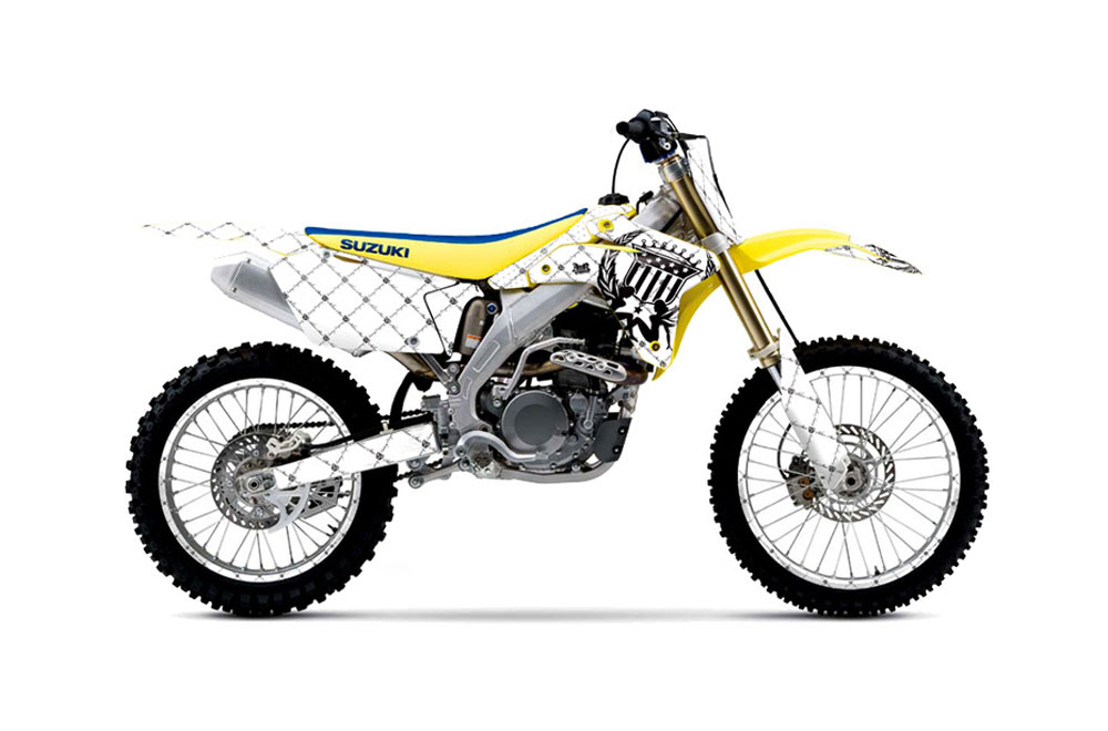 Suzuki RMZ 450 Dirt Bike Graphics: Silver Star Reloaded