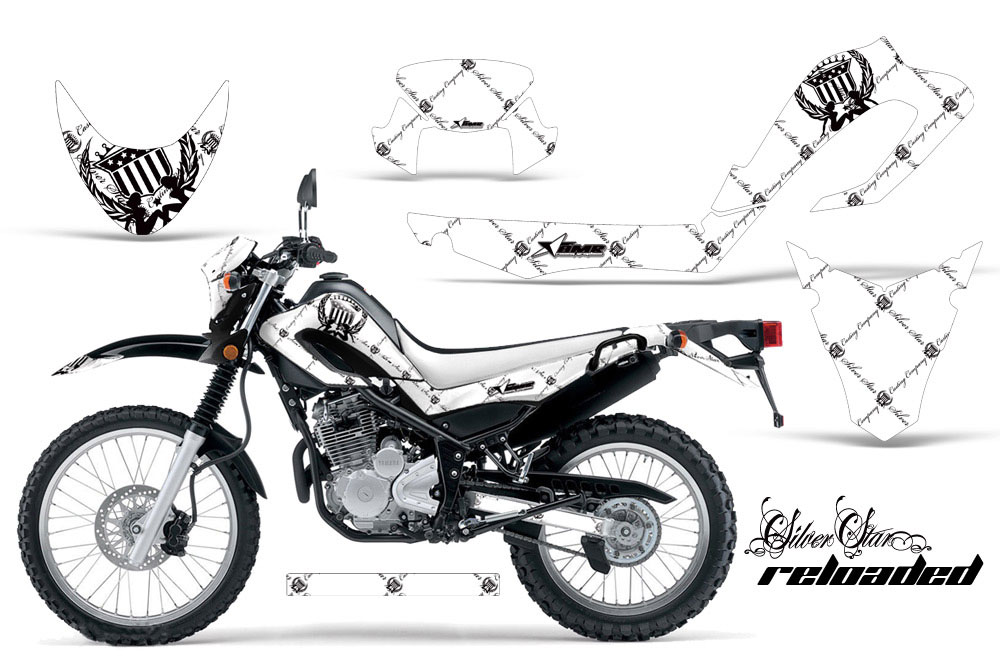 Yamaha XT250X Dirt Bike Graphics: Silver Star Reloaded