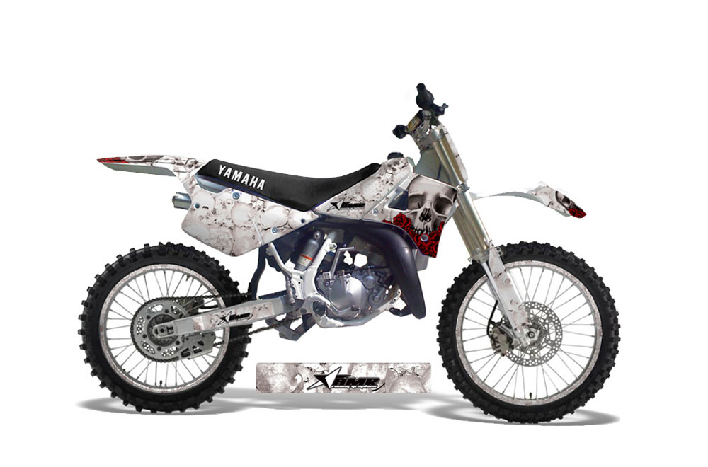 Yamaha YZ250 2 Stroke Dirt Bike Graphics: Bone Collector