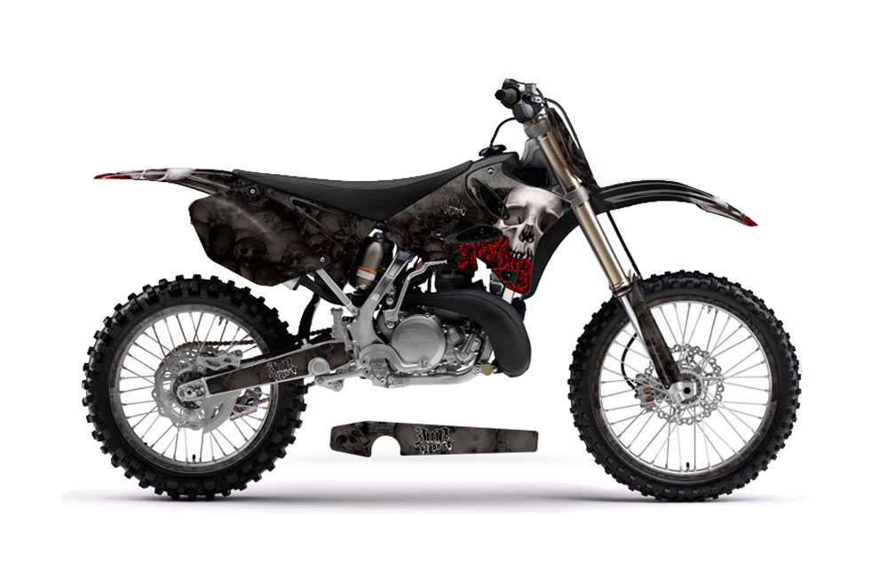 Yamaha YZ125 2 Stroke Dirt Bike Graphics: Bone Collector
