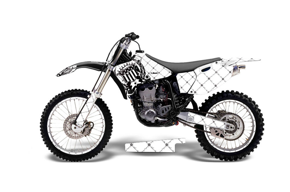 Yamaha YZ400 4 Stroke Dirt Bike Graphics: Silver Star