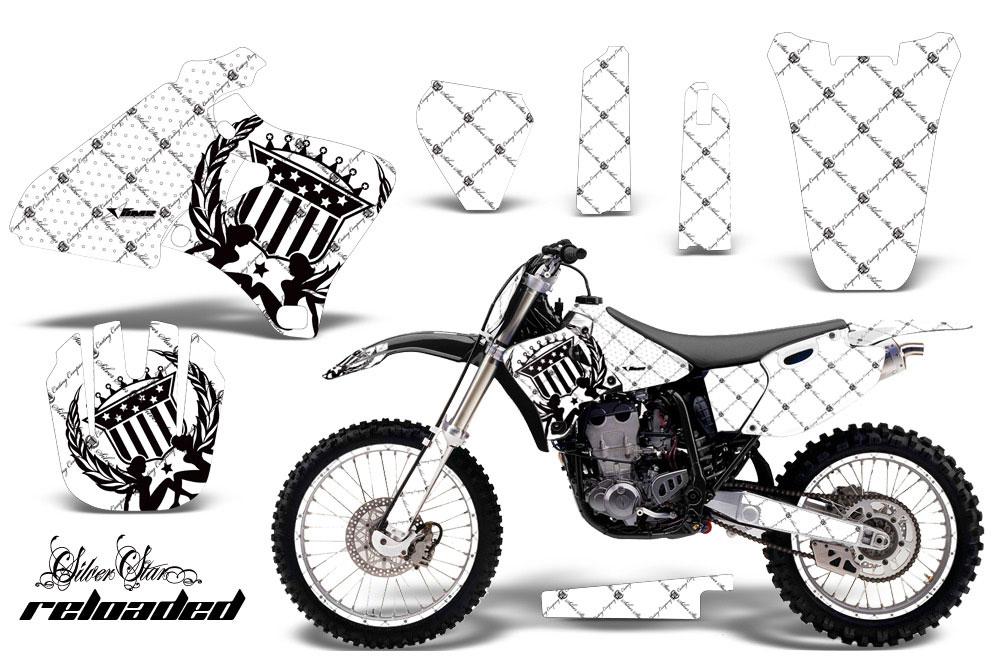 Yamaha YZ400 4 Stroke Dirt Bike Graphics: Silver Star