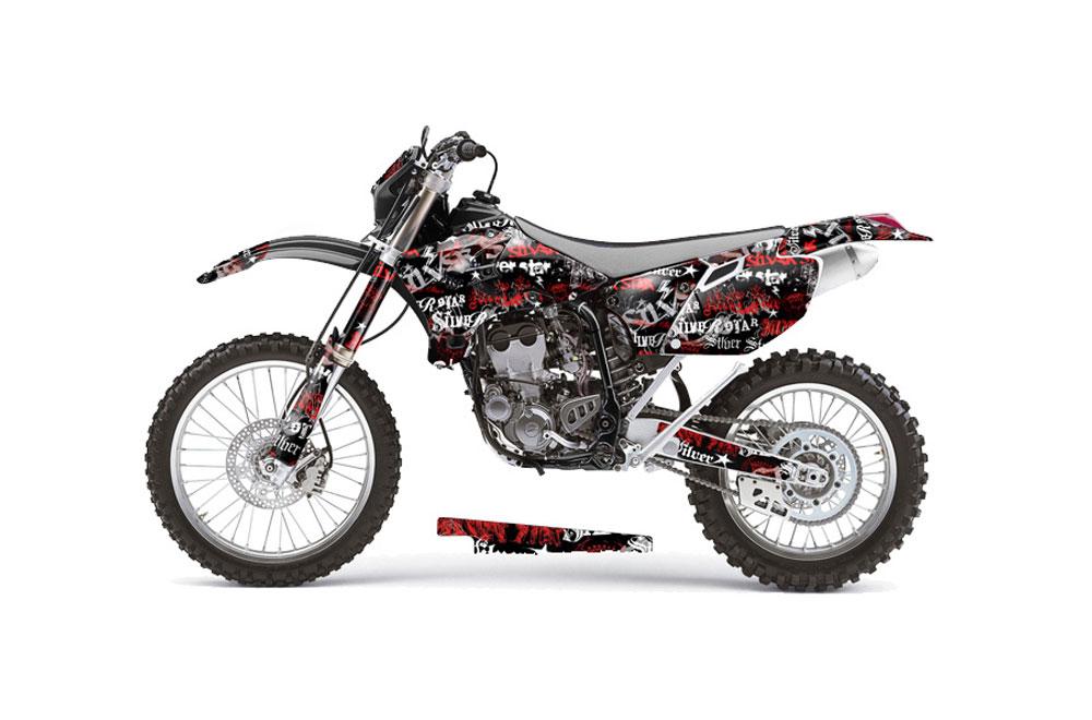 Yamaha YZ450 F 4 Stroke Dirt Bike Graphics: Silver Star