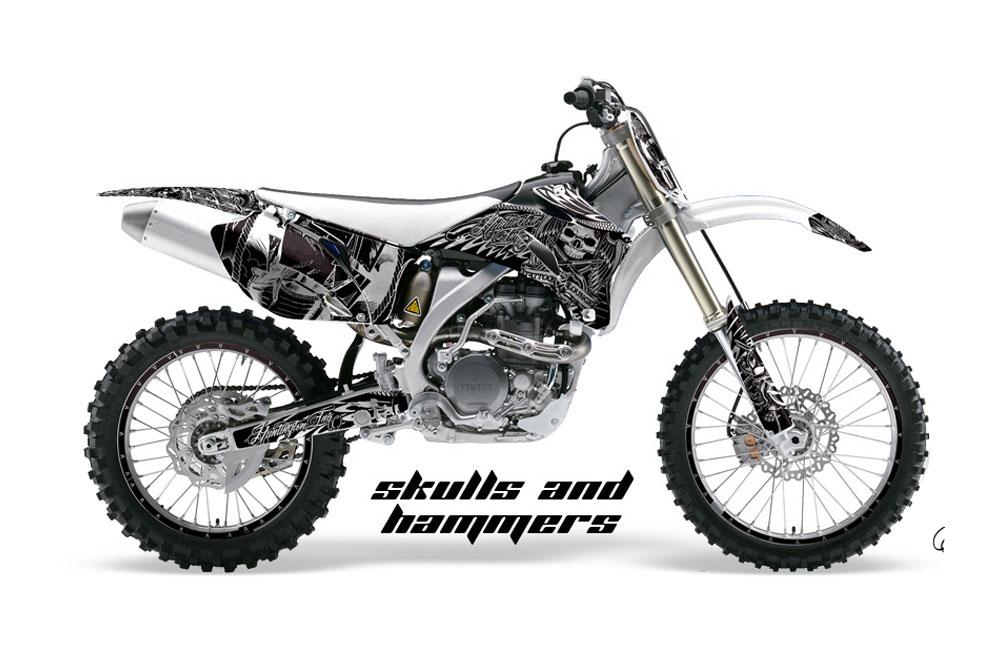 Yamaha YZ250 F 4 Stroke Dirt Bike GraphicsSkulls and