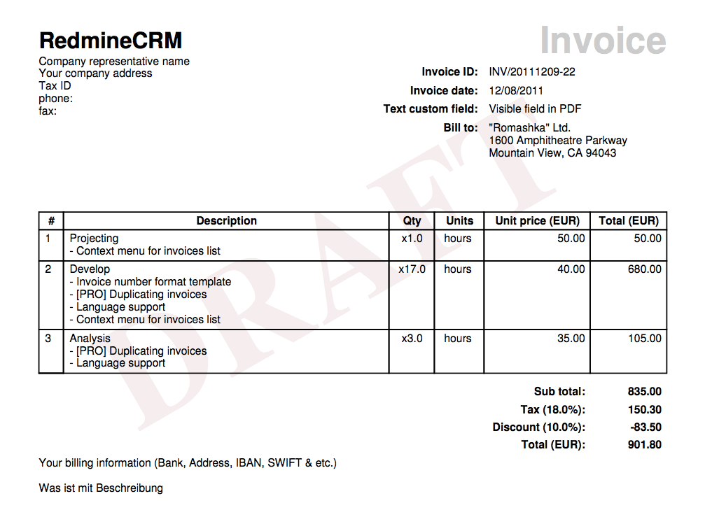 New Feature Create Custom Invoice Templates With Template