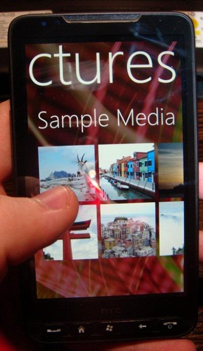 Windows Phone 7 Series on HTC HD2