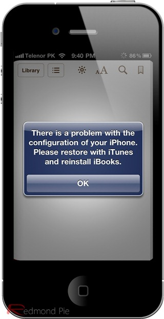 iBooks Error